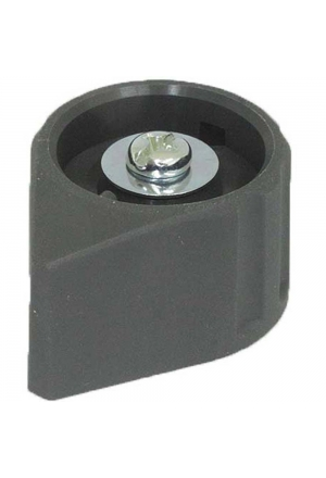 Arrow knob, grey, mat finish for spindle d=3mm