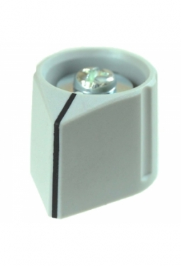 Arrow knob, mat finish, light grey, wi..