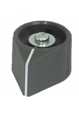 Arrow knob, grey, mat finish, with line