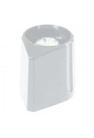 Arrow knob, grey, glossy for spindle d=3mm
