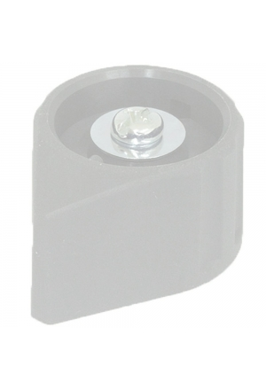 Arrow knob, grey, glossy for spindle d=3mm, coaxial