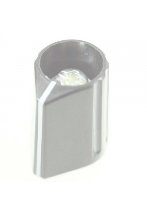 Arrow knob, grey, glossy for spindle d=2mm