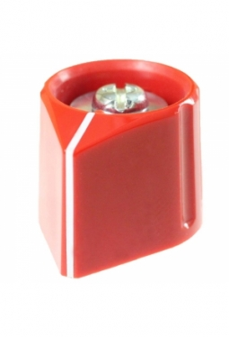 Arrow knob, red, glossy, with line