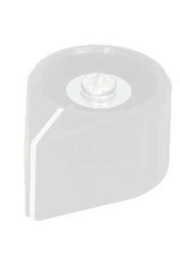 Arrow knob, grey, glossy, with line
