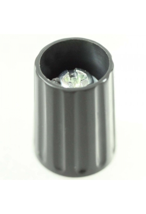 Knob, grey, glossy for spindle d=1/4""