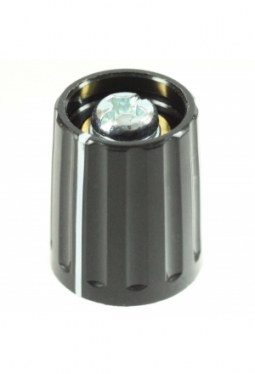 Knob, black, glossy, with line