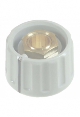 Knob, light grey, glossy, with line