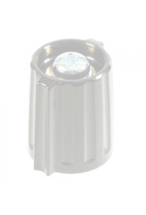 Wing knob, grey, glossy for spindle d=3mm