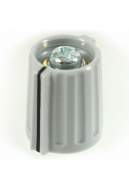 Wing knob, light grey, glossy, with line