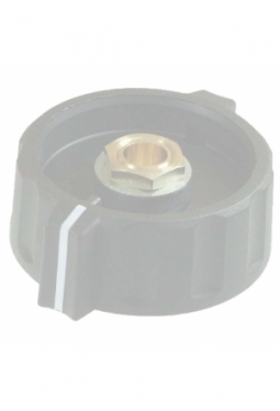 Wing knob, black, mat finish, with line