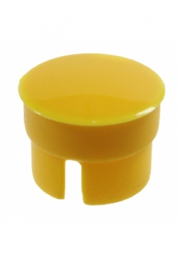 Curved cap, yellow, glossy