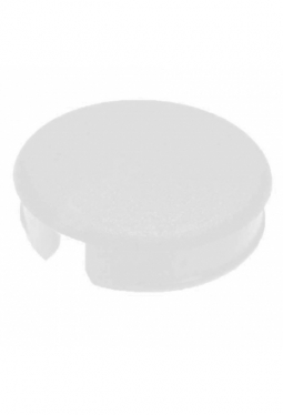 Curved cap for short knobs, grey, glossy