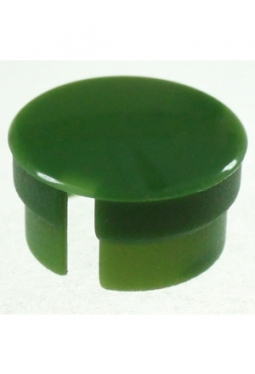 Curved cap, green, glossy