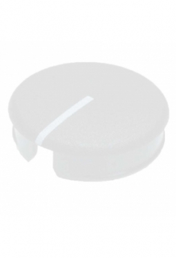 Curved cap for short knobs, light grey..
