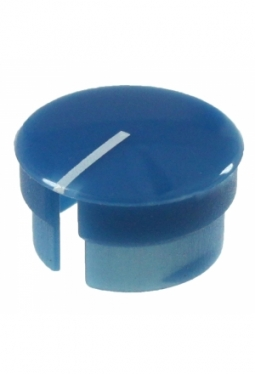 Curved cap, blue, glossy, with line