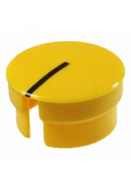 Curved cap, yellow, glossy, with line