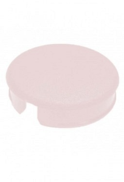 Curved cap for short knobs, red, mat f..