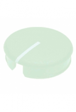 Curved cap for short knobs, green, mat..