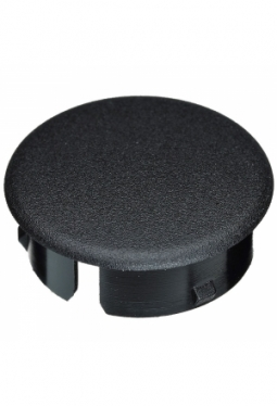 Curved cap, black, mat finish