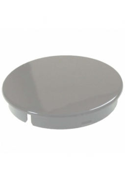 Curved cap, grey, glossy