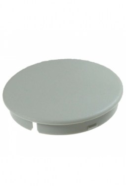 Curved cap, light grey, mat finish