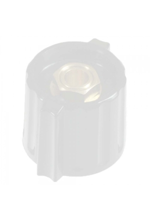 "Short wing knob. grey, glossy for spindle d=1/8"", coaxial"