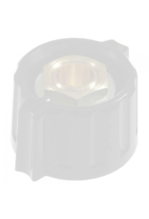 Short wing knob. grey, glossy for spindle d=3mm, coaxial