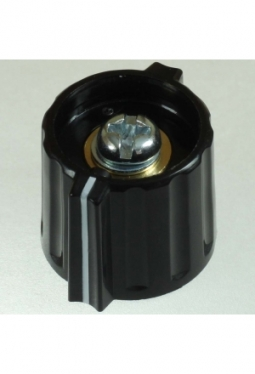 Short wing knob. black, glossy, with l..