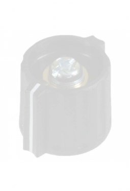 Short wing knob. grey, mat finish, wit..