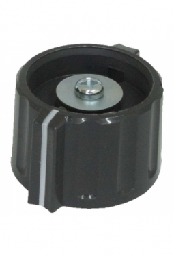 Wing knob, grey, glossy, with line