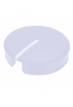 Curved cap for short knobs, blue, glossy, with line