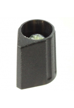 Arrow knob, black, mat finish for spindle d=2mm