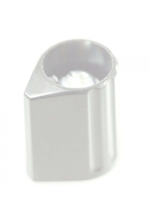 Arrow knob, grey, glossy for spindle d=1/8""