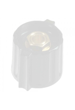 "Short wing knob. light grey, glossy for spindle d=1/8"", coaxial"
