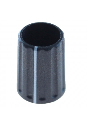 """push on"" knob, black, mat finish, with line"" for spindle d=3mm"