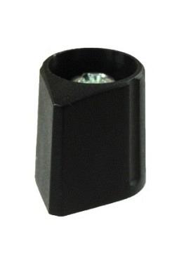 Arrow knob, black, mat finish