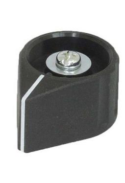 Arrow knob, black, mat finish, with line