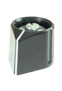 Arrow knob, black, glossy, with line
