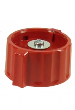 Wing knob, red, glossy