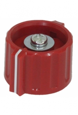 Wing knob, red, glossy, with line