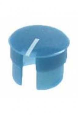 Curved cap, blue, glossy