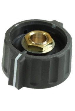 Short wing knob. grey, mat finish, with line